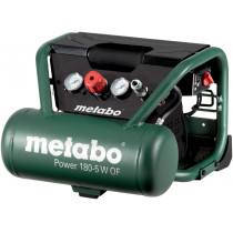 Компрессор Metabo Power 180-5 W OF, 230В, 1,1кВт, 160л/мин, 5л, 8бар, 16кг, безмасляный