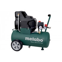 Компрессор Metabo Basic 250-24 W OF, 230В, 1,5кВт, 220л/мин, 24л, 8бар, 24кг, безмасляный